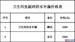 免敲砖卫生间防水补漏施工合同【通用版】